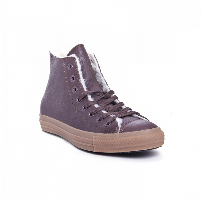 Кеды Converse Chuck Taylor All Star Hi Leather pinecone мех 139814